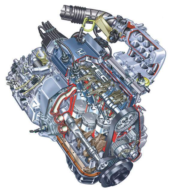 конструкция двигателя honda 2.0 ivtec